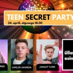 TULE PIDUTSE NAUTICA KESKUSES: TEEN SECRET PARTY ON TASUTA!