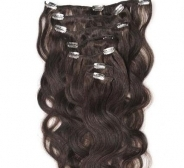 CLIP IN juuksepikendused #1b 50cm, 105g REMY laines