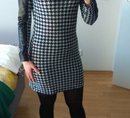 Houndstooth kleit S-le