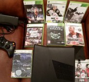 Xbox360 slim 250gb + 8 cd gamesxbox 360 slim