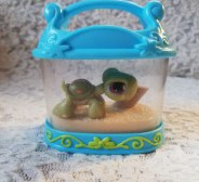 Littlest Pet Shop LPS kilpkonn+terraarium