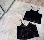 Cami top crop top MOP sädelev top