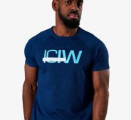 ICIW  Training Mesh T-Shirt Men - Deep Blue Melange
