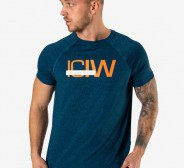ICIW  Training Mesh T-Shirt Men - Dk Teal Melange