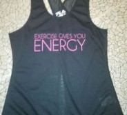"""Uus sporditop/ trennitop """"Exercise gives you energy"""" s. XS-S"""