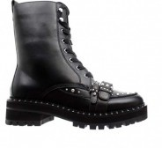 Liu Jo Biker Calf Leather Black Boots with Studs.  38,5 suurusele.