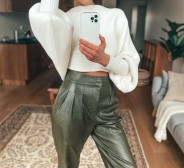 UUED! Urban Outfitters faux leather pants, suurus S.