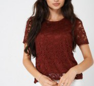 Lace Top in Burgundy Size 12 Urban Bliss